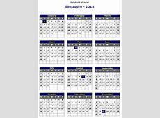 2018 calendar singapore Printable 2018 calendar Free
