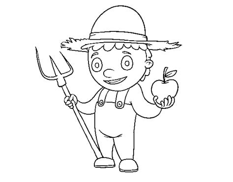 coloring page horticulturist  color