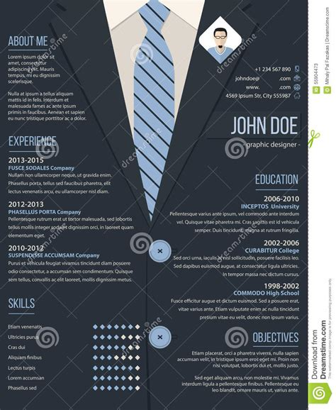cool resume cv template  business suit background