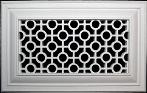 There are two parts to decorative resin air return filter grilles, the frame and the center screen. Decorative Vent Covers - Registers Grilles And Vents ...