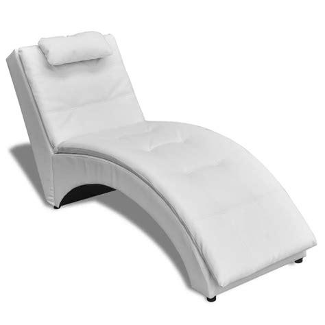 la chaise longue boutique en ligne la boutique en ligne chaise longue en cuir artificiel blanc avec coussin vidaxl fr