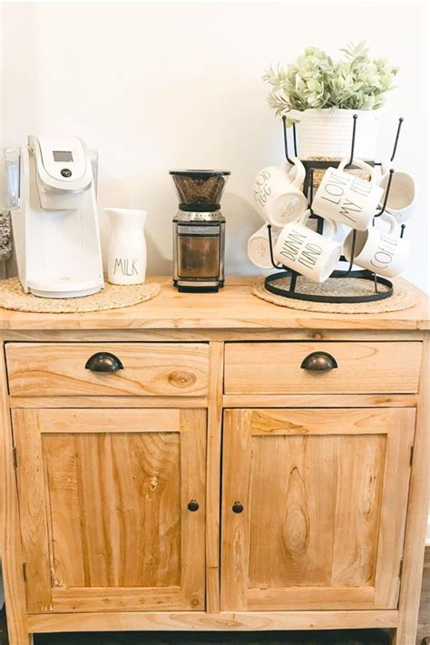 Stained and sealed.holds 6 cups securely. 40+ Best Coffee Bar Ideas & Stations For 2021 - Crazy Laura