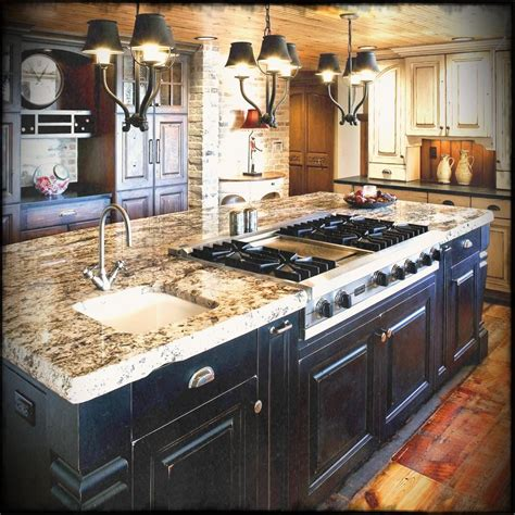 white kitchen wood island colorado rustic kitchen design with black and white 1425