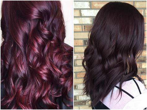 burgundy hair color ideas maroon deep purple plum
