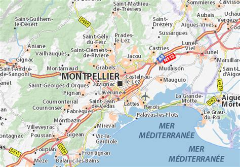 Carte Sud Montpellier by Montpellier Map Detailed Maps For The City Of Montpellier