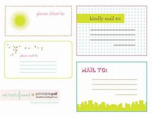 free printable cute mailing labels printables pinterest With cute mailing labels