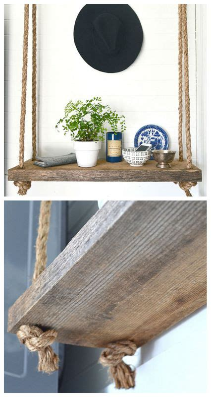 Home Depot Decorative Rope Shelf by Craftionary