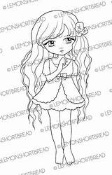 Etsy Digital Stamp Coloring Digi Posies Floral Flowers Lemonshortbread Visit Children Pages sketch template