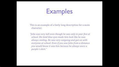 english creative writing describing characters youtube