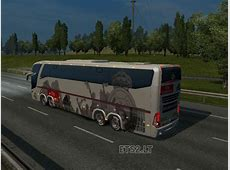 Bus Macropolo G7 1600LD Real Madrid Skin ETS 2 mods