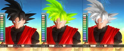 goku transformable hair pack  male cac   ssj