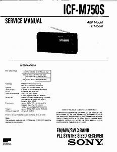 Sony Icf-m750s Service Manual