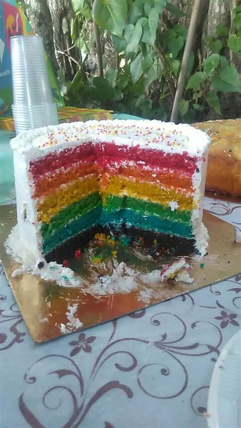recette du rainbow cake ou gateau arc en ciel facile avec