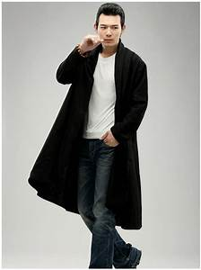 Spring Autumn Mens Trench Coat Black Long Jacket For Male Long Coat Windbreaker Tranchee Manteau