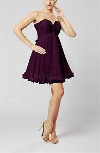 plum sexy sweetheart sleeveless backless chiffon mini With plum dress for wedding guest