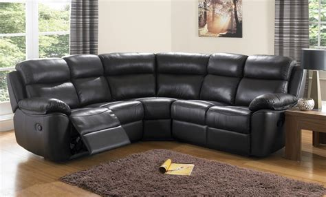 Sofa Schwarz Leder by Houston Black Leather Corner Sofas Leather Reclining Sofa