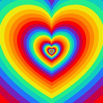 Rainbow Heart Hearts Tomasz Feliks Konczakowski Giphy