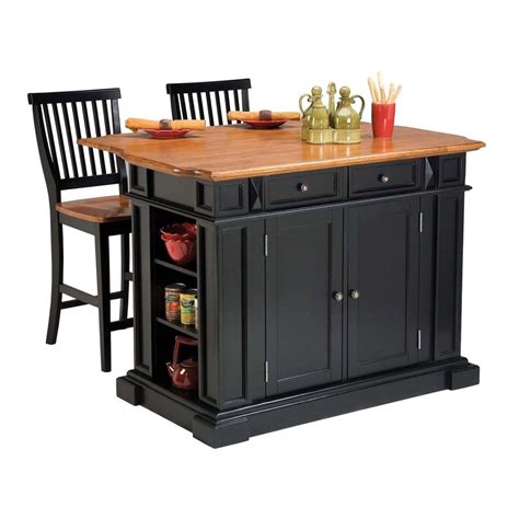 stools for kitchen island shop home styles black farmhouse kitchen island with 2