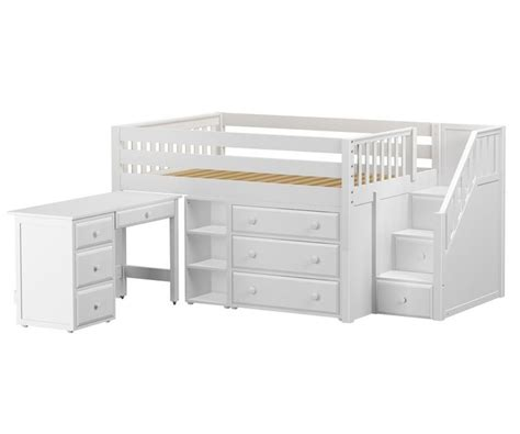 kids loft bed and desk perfect2l full size low loft bed with stairs desk white