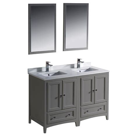 White Vanity With Gray Top by Fresca Oxford 48 In Traditional Bath Vanity In