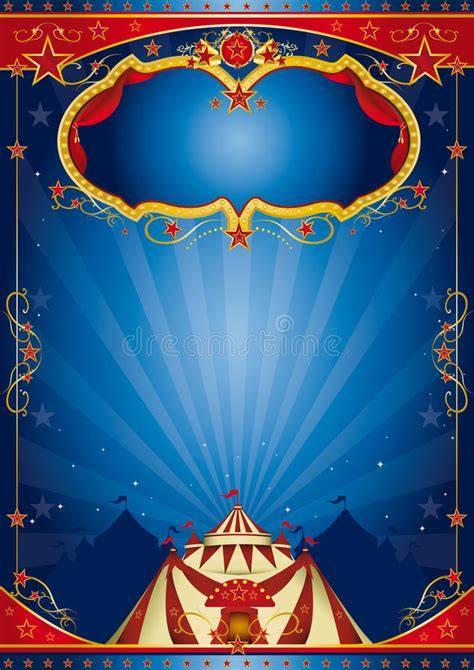 blue poster circus royalty  stock images image
