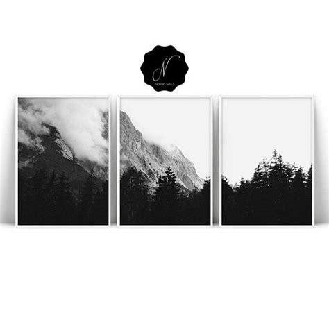 Nature Printable Wall Art Set Prints Black White