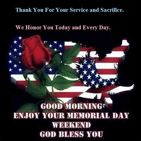 Good Morning Memorial Day Weekend Sunday Monday Images ...