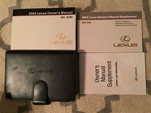 Purchase 2004 Lexus Rx 330 Owners Manual Set With Case