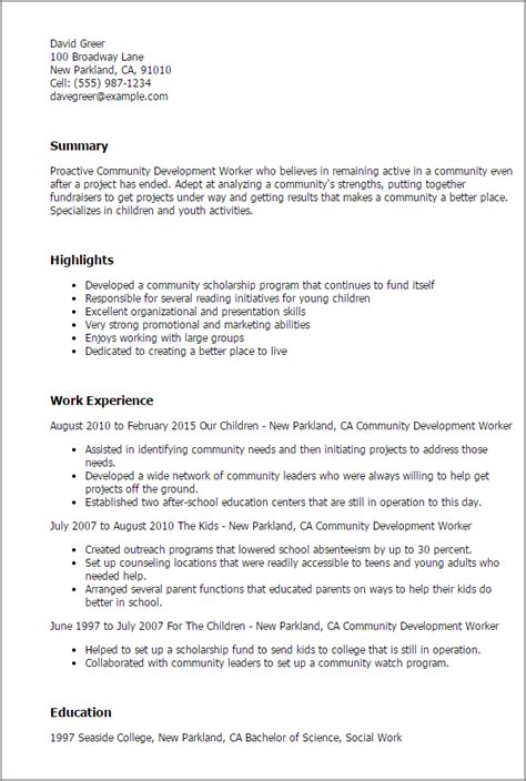 community outreach worker cover letter