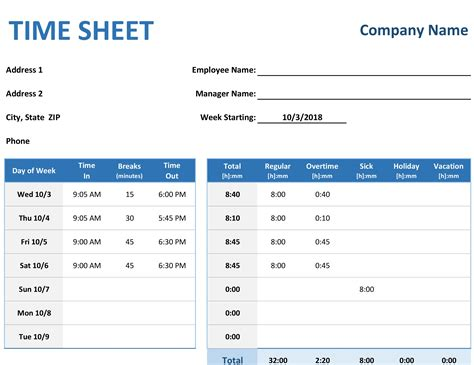 time in sheet template online free time sheet