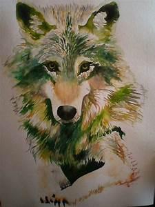 Bilder Bäume Gemalt : wolf gemalt in aquarell foto bild tiere wildlife wildlife sonstige tiere bilder auf ~ Orissabook.com Haus und Dekorationen