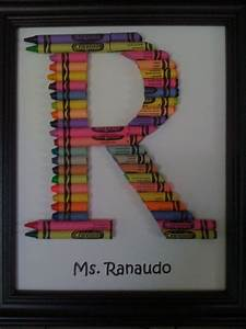 crayon initial art ideas for the classroom pinterest With crayon letters for teachers