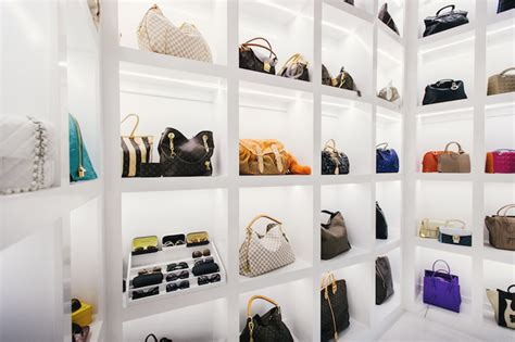 Luxury Closet Handbags by Purse Display Shelves Contemporary Closet Neiman