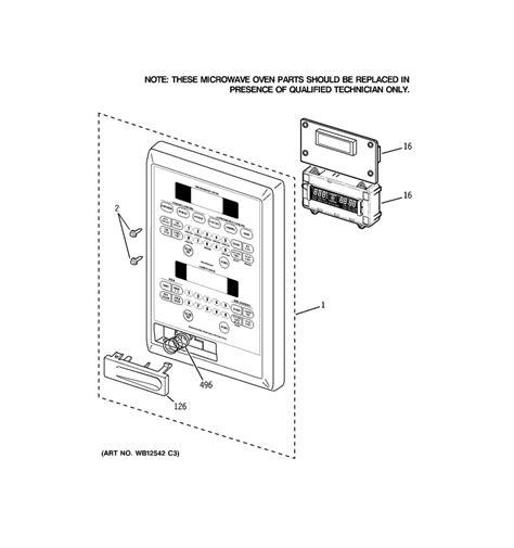 ge microwave parts diagram wiring