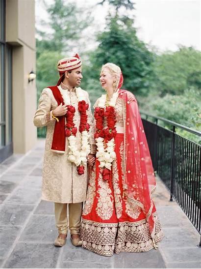Traditional Indian Attire Couple Interfaith Weddings
