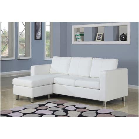 white vinyl sectional sofa 2 pc kemen collection white leather like vinyl reversible