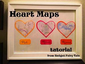 first anniversary gift map hearts display tutorial and With 1st wedding anniversary gift for him