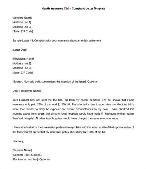 insurance letter template 29 free complaint letter templates pdf doc free premium templates