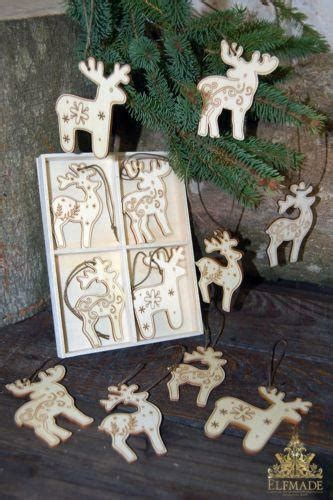 wooden reindeer decoration ebay