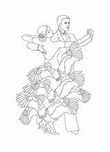 Coloring Pages Tango Para Colorear Dibujos Flamenco Azcolorir Az Popular Dance sketch template
