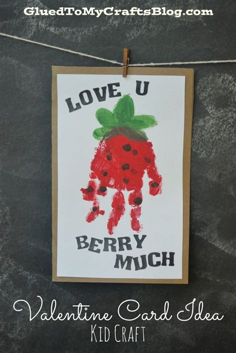s day handprint card ideas quot berry much quot handprint card idea for