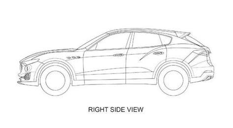 Auto Kleurplaat Zijkant by Dit Is De Maserati Levante Op Patent Tekeningen