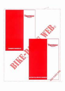 Owners Handbook For Triumph Tiger 1050   Triumph