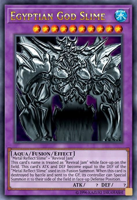 egyptian god slime custom yugioh cards