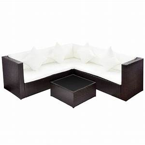 Rattan Lounge Set : brown poly rattan lounge set with two seat sofa ~ Orissabook.com Haus und Dekorationen