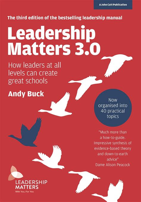 leadership matters  leaders   levels create great