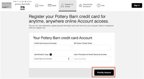 pottery barn credit card payment pottery barn credit card login make a payment creditspot