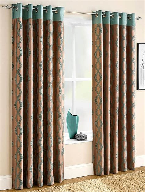 cania lined eyelet curtains teal free uk delivery