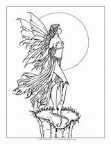 Coloring Pages Fantasy Molly Fairy Harrison Halloween Grayscale Adult Printable Tinkerbell Para Books Moon Fairies Colorear Adults Mollyharrisonart Dibujos Colouring sketch template