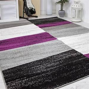 Teppich Grau Lila : designer wohnzimmer teppich geometrisches muster meliert ~ Whattoseeinmadrid.com Haus und Dekorationen